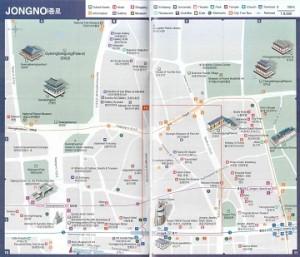 Карта района Чонгно-Гу