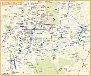 Карта центральной части Сеула