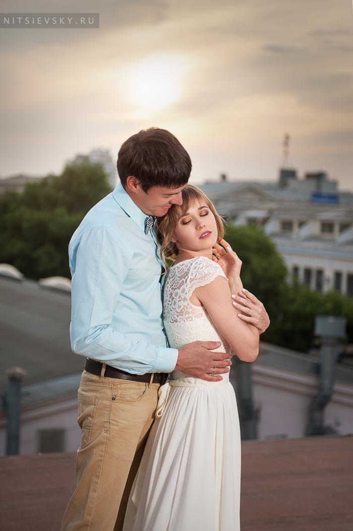 Свадебная фотосессия на крыше в Ростове