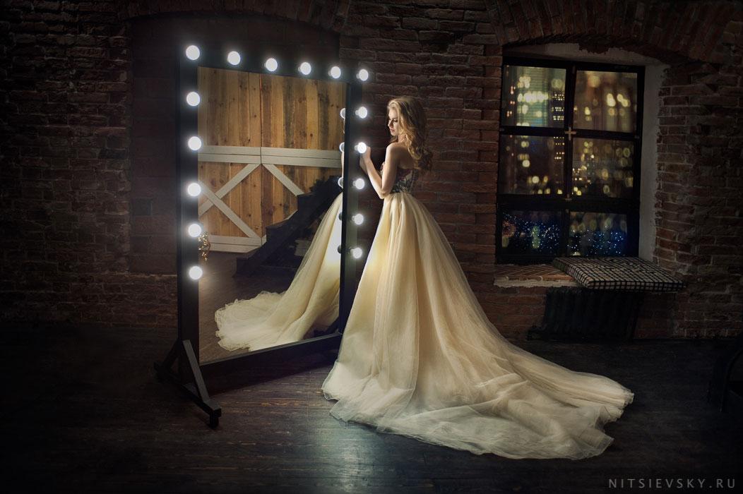 фотосессия в платье в студии