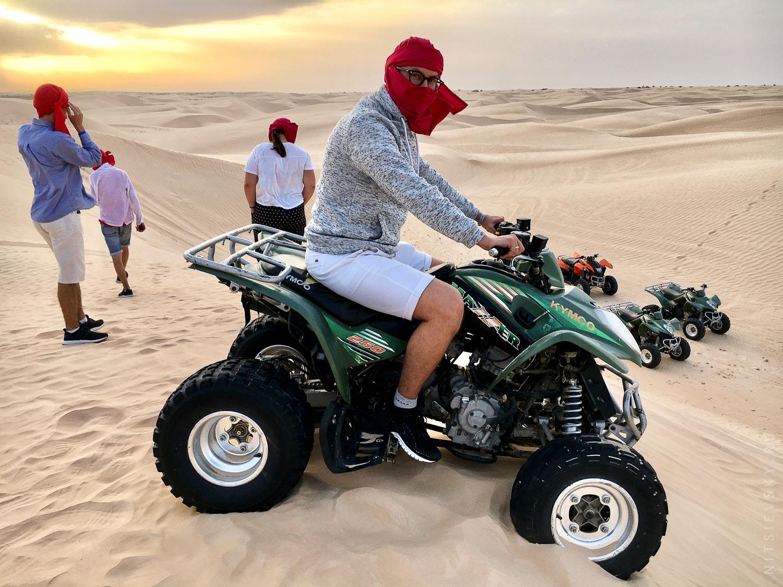 В Сахаре на квадроциклах