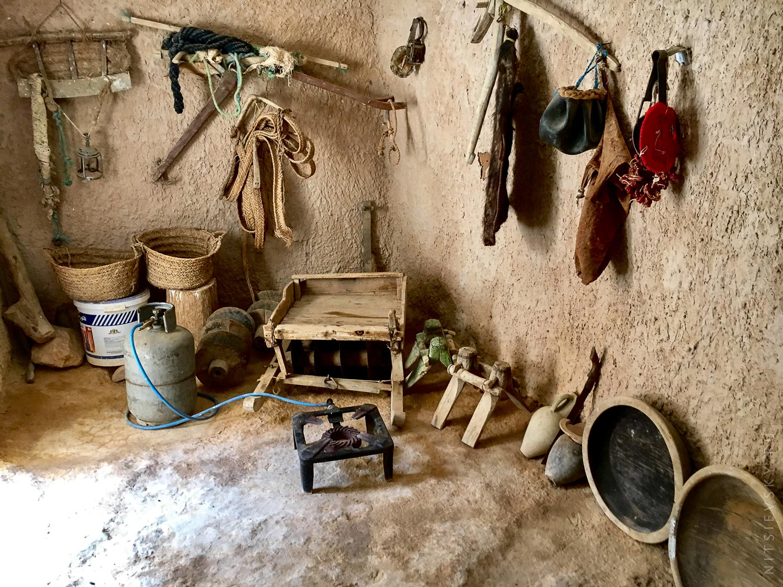 Жилище троглодитов в Сахаре Тунис