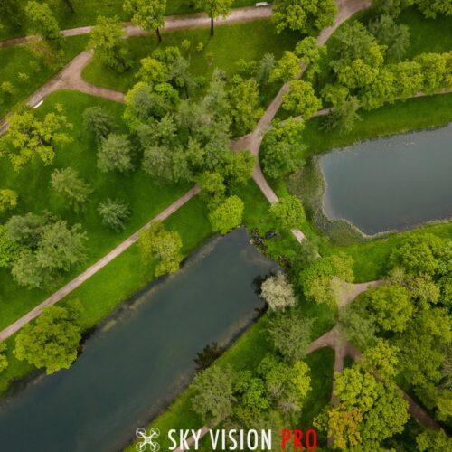 Екатерининский парк с воздуха
